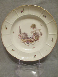 Ludwigsburg Porcelain Scenice Soup Plate 1700and039s 2