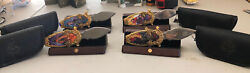 Set Of 4 Franklin Mint Lord Of The Rings Collectors Knives. Cases And Displays.