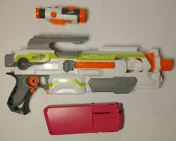 Electronic Girland039s Nerf Modulus With Scope And Pink Magazine/clip. Tested Works.