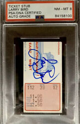 Larry Bird Signed 1979 Nba All-star Game Ticket Stub 🎟 Autographed🔥psa/dna 8