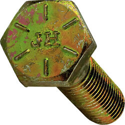 1-1/4-7 Hex Bolts Cap Screws Grade 8 Zinc Yellow 2in, 3in, 4in, Up To 10in
