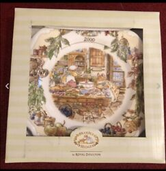 Royal Doulton Brambly Hedge Plate 8andrdquo Year 2000 New With Box