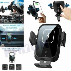 360°rotating Qi Wireless Fast Car Charger Mount Air Vent Cell Phone Holder 15w