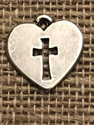 James Avery Sterling Silver Crosslet Heart Charm 284