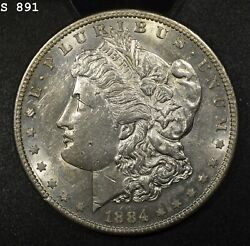 1884-s Morgan Silver Dollar Au+ Free S/h After 1st Item