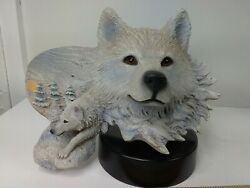 Artic Son Limited Edition Cain 185 Of 2000 Wolves Statue 1993