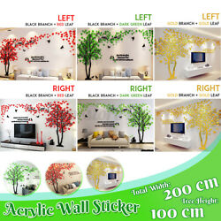 3d Tree Acrylic Wall Sticker Room Decal Mural Art Diy Home Wall Decor Acrylic L