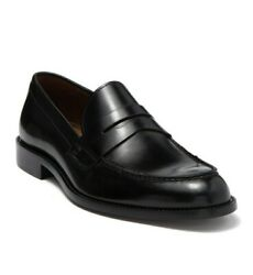 New To Boot New York Cutler Black Leather Penny Loafer Shoes Size 9