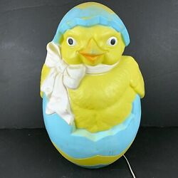 1993 Carolina Enterprises Easter Chick Hatching From Egg Blow Mold23 Tall Rare