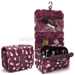 Travel Toiletry Wash Cosmetic Bag Makeup Storage Case Hanging Organizer Ba UU $7.35