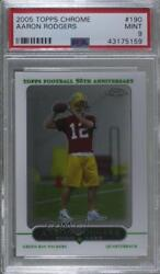 2005 Topps Chrome Aaron Rodgers 190 Psa 9 Rookie