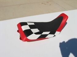 Fits Honda Atc 250r Seat Cover 1985 To 1986 Red White And Black Checker 8347hgjrh