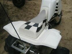 Fits Honda Atc 250r Seat Cover 1985 To 1986 Black And White Checkerd G6dwyfwy