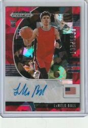 Lamelo Ball Auto Prizm Rookie Card Red Cracked Ice Hornets Rc 2020 Panini Prizm