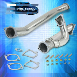 For 86-92 Toyota Supra Mk3 1jz-gte Twin Turbo Stainless Steel Exhaust Downpipe