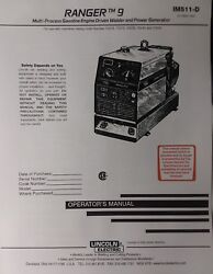 Lincoln Ranger 9 Welder And Onan Engine Owner Master Service And Parts 4 Manual S