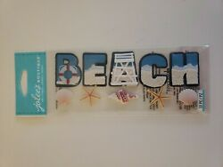 Jolees Boutique scrapbooking stickers Beach and Shells title $2.99