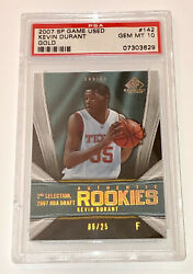 Kevin Durant 2007-2008 Upper Deck Sp Game Used Gold Rookie Rc /25 Psa 10 Pop 1
