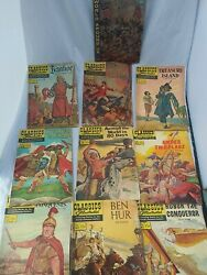 Lot Of 10 Classics Illustrated Comics From The -60's No. 2 Ivanhoe