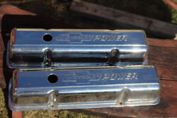 14044824 Chevrolet Power Valve Covers - Tall - Gm Parts - Small Block Chevy 350