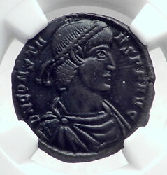 Constans Authentic Ancient Soldiers W Emperor On Galley Roman Coin Ngc I81379