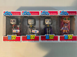 Teen Titans Go Rock Candy Lot Of Four - Rare Raven And Starfire
