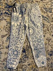 Kith Moroccan Tile Williams I Sweatpant Kh6528-405 Avalanche Monday Size Large