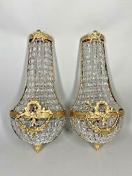 Pair Of Two Beautiful Sconces/wall Lamps Decorated Worldwide Free Shipping