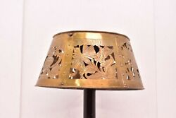 Arts And Crafts Mission Pierced Copper Brass Lamp Shade For Slag Glass Or Mica