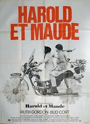 Harold And Maude - Hal Hasby / Motorcycle - Original Large French Movie Poster