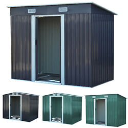 Large Galvanized Steel Garden Shed For Garages And Outdoor Storage Unit Building