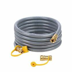 Flexible Propane Gas Line W/ 12 Feet Natural Gas Grill Hose W/ 3/8 Male Flare
