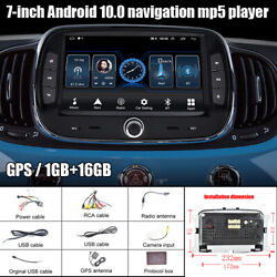 Fit For 2016-2019 Fiat 7and039and039 Android 10.0 Mp5 Player 1g+16g Gps Reversing Machine