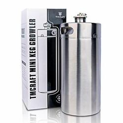 Tmcraft 128oz Stainless Steel Mini Keg Portable Beer Growler With Exhaust Valve