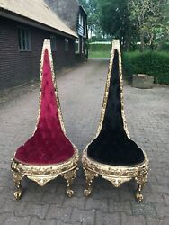 Unique Rare French Louis Xvi Chairs - A Pair. - Made To Order