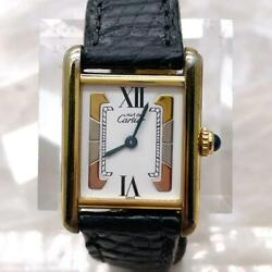 Must Tank Vermeil Three Gold D Buckle Ladies Watch Battery Replaced