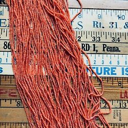 Tiny 2mm Natural Round Branch Coral 16 Bead Strand