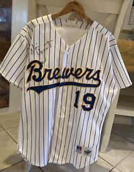 Official Hof Brewers Robin Yount 1993 Game Worn /signed Autographed Jersey