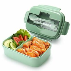 Lunch Box For Kids Snack Microwavable Food Container School Office Storage Spoon