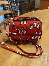 Vera Bradley All In One Crossbody For I Phone 6 Playful Penguins RED NWOT $22.90