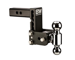 Bandw Tow And Stow 5in Drop 4.5in Rise 2x2 5/16in Dual Ball Size Hitch