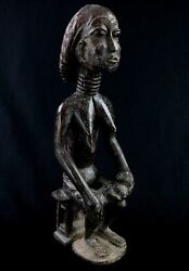 Art African Arts First - Antique Statue Maternity Akan Agni Anyi - 43 Cms