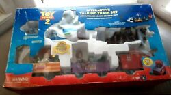 New Nib Vintage 1990's Toy Story 2 Interactive Train Set Infrared Remote Talking