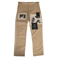 Nwt Palm Angels Beige Corduroy Patches Pants Size 36/46 965