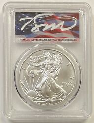 2011 1 Silver Eagle Pcgs Ms70 25th Anniversary Set Cleveland Flag Pop 20