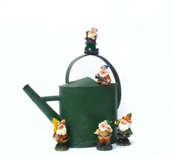 Five French Charming Retro Gnomes Terracotta Glazed Perfect Display Photo Prop