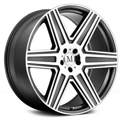 Mandrus Atlas Wheels 19x9.5 35 5x112 66.56 Gunmetal Rims Set Of 4