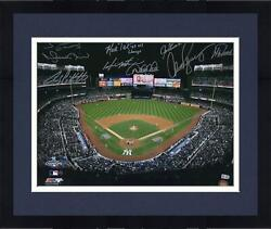 Frmd Yankees Multi-signed 16 X 20 2009 G6 Stadium Overhead View Photo And Insc
