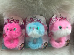 Lot Of 3 Pomsies Plush Interactive Pets-bubble Gum Lu Lu And Zoey - New