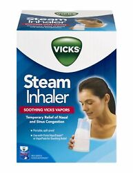 Vicks Steam Inhaler Soothing Vicks Vapors For Nasal And Sinus Relief 1 Ea 24pk